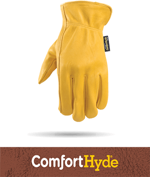 comforthyde leather technology button